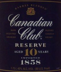 Canadian Club 80 Reserve