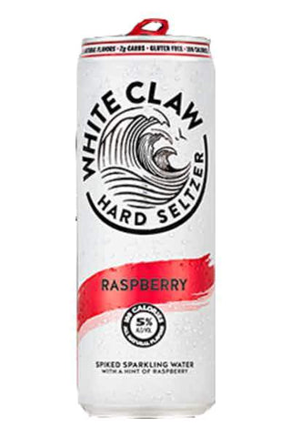 White Claw Hard Seltzer Raspberry - 6pk Can