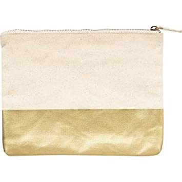 Waste Not Paper Color Block Pouch - Gold