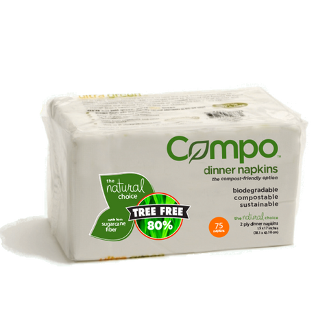Compo Hypo-allergenic 2 Ply Dinner Napkins (75 Ct)