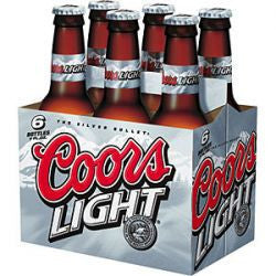 Coors Light 12 Oz 6 Pack Bottles