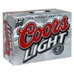 Coors Light 12Oz 12Pk Can