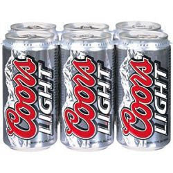 Coors Light 16 Oz Cans 6Pk