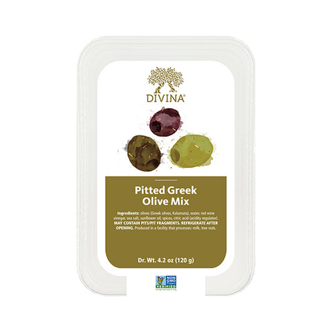 Divina Greek Olive Mix, Pitted (Deli Cup)