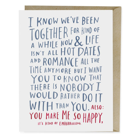 Awkward Love Greeting Card