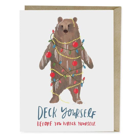 Emily McDowell Deck Yourself Holiday Card