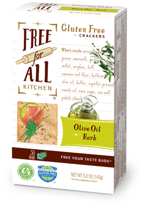 Free For All Kitchen Olive Oil & Herb Gluten Free Crackers