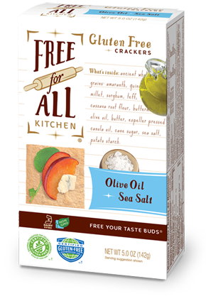Free For All Kitchen Sea Salt & Olive Oil Gluten Free Crackers