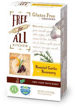 Free For All Kitchen Garlic & Rosemary Gluten Free Crackers