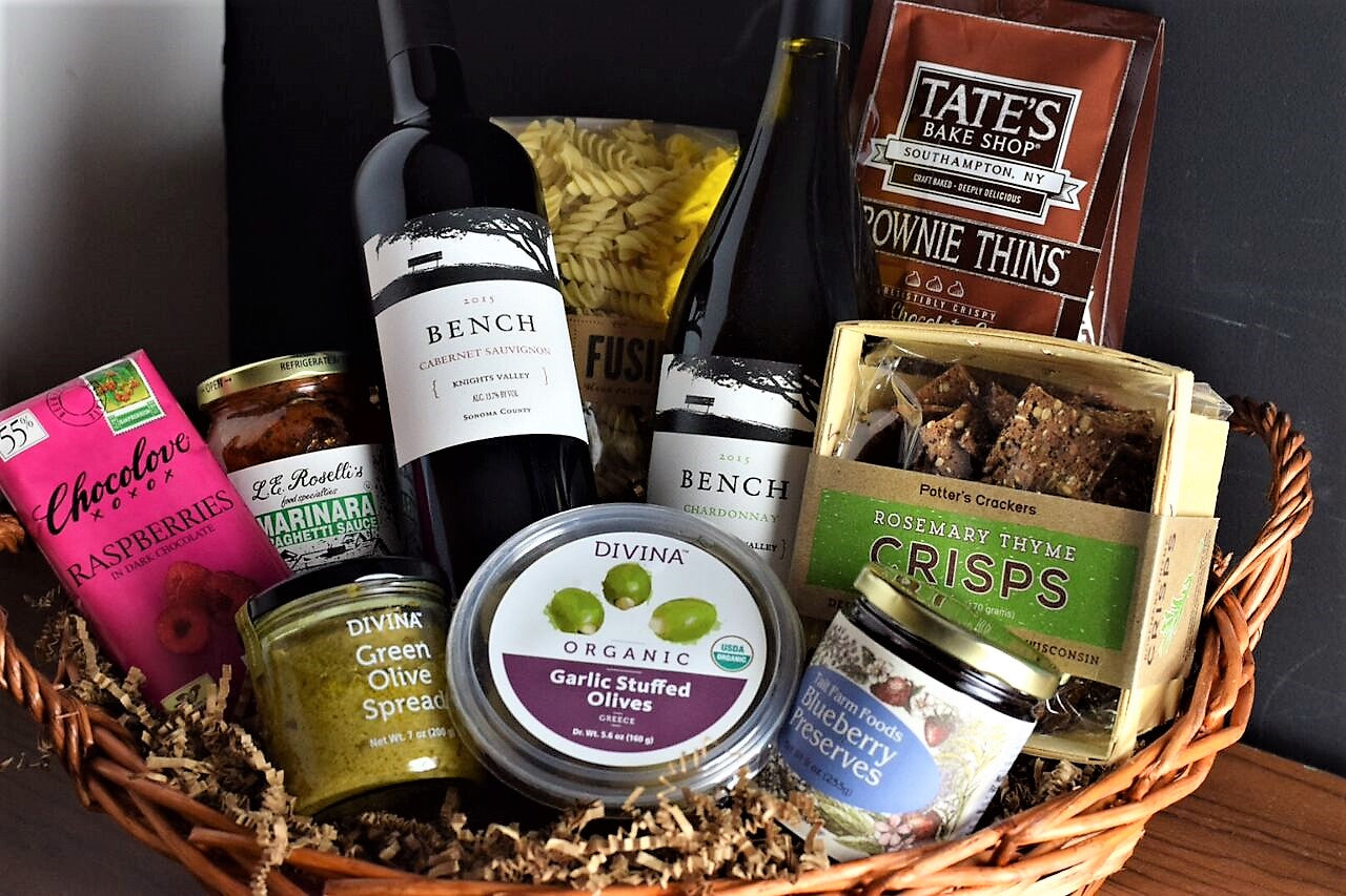 Gourmet food and wine gift basket white horse wine and spirits gourmet food and wine gift basket negle Images