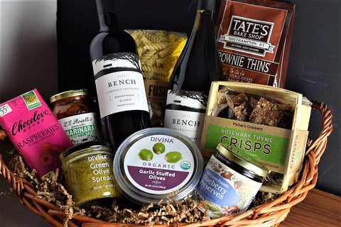 Gourmet Food and Wine Gift Basket