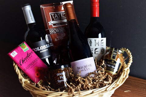 Red Wine Lovers Gift Basket