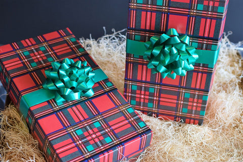 Wine Gift Box Classic Plaid
