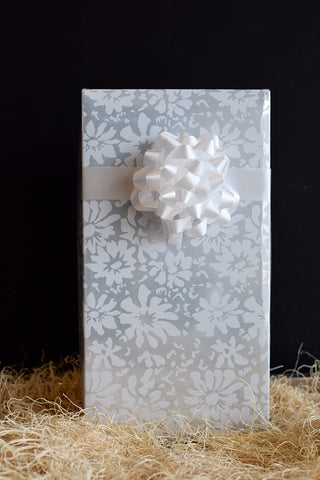 Wine Gift Box White Floral