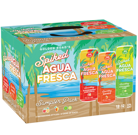 Golden Road Spiked Agua Fresca Variety Pack - 12PK Cans