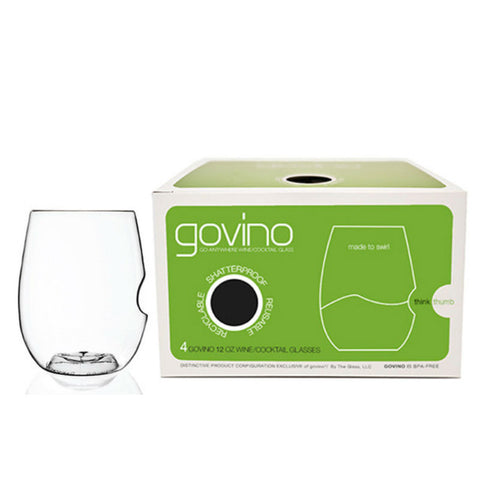 Govino Shatterproof 12oz White Wine / Cocktail Glasses - 4pk