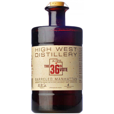 High West Whiskey The 36Th Vote Barrel Aged Manhattan