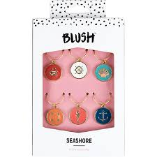 Blush Seashore Wine Charms