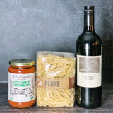 Red Wine & Pasta Bronze Gift Basket