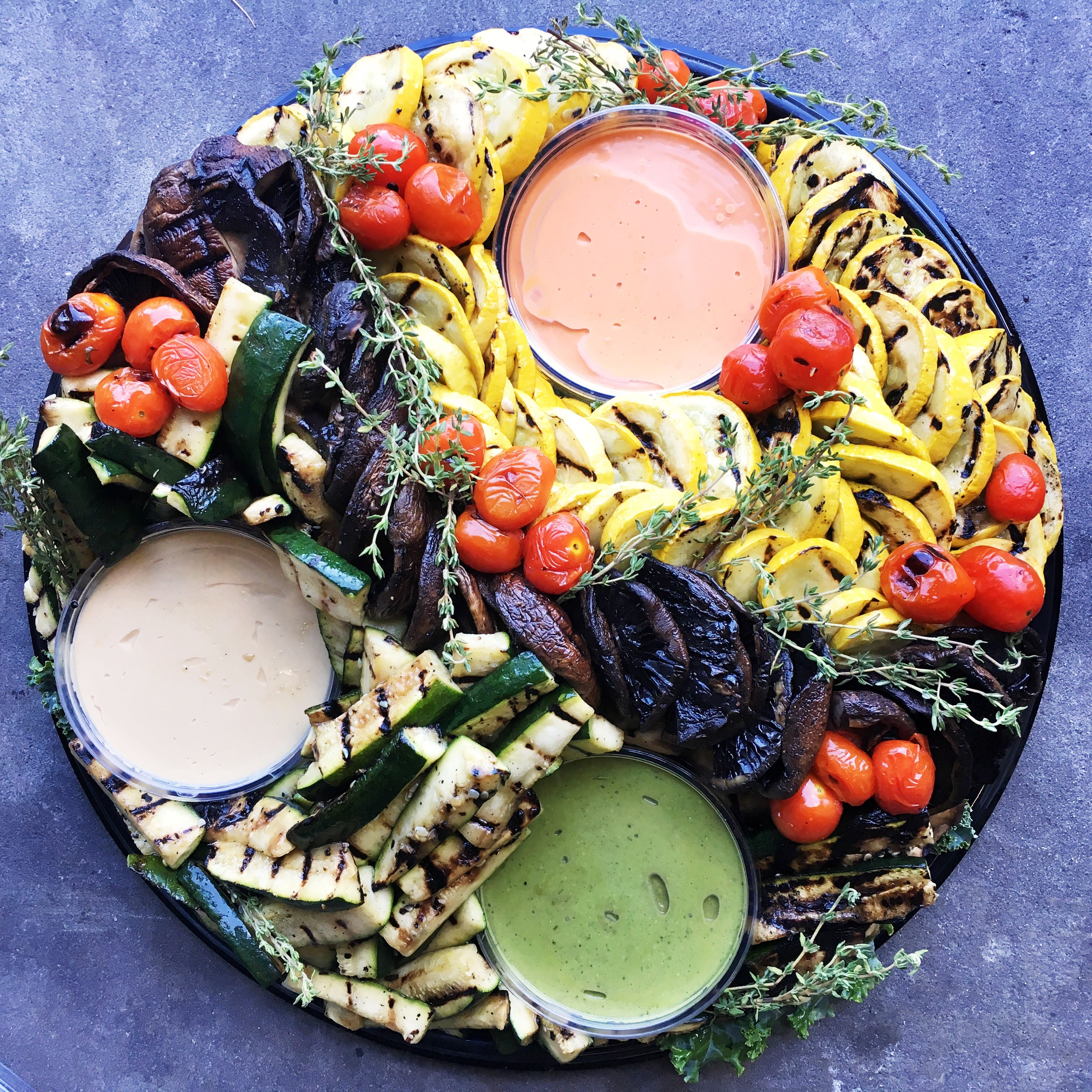 Grilled Vegetable Platter Catering White Horse Wine And Spirits