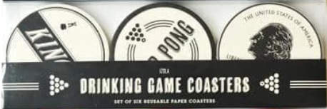 Izola Drinking Games Coasters (Set of 6)