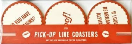 Izola Pick Up Lines Coasters (Set of 6)