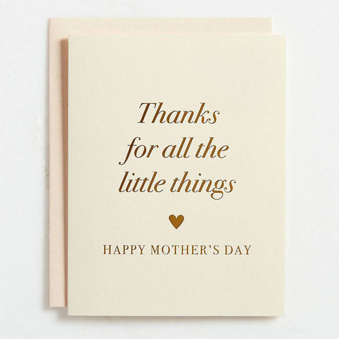 Thanks for All the Little Things Foil Mother's Day Card