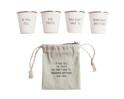 Izola Twain Stainless Steel Shot Glass Set