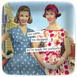 Anne Taintor Mini Tray - we came… we shopped… we're ready for cocktails