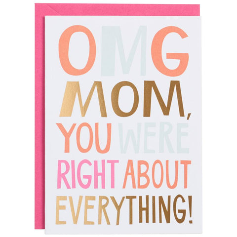 OMG Mother's Day Card