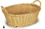 Custom Gift Basket - Oval Willow Bowl, 16""