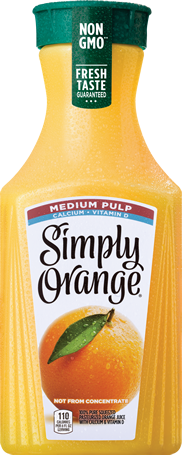 Simply Orange Juice with Medium Pulp