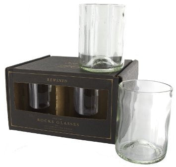 Rewined Glasses Clear Set Of 4