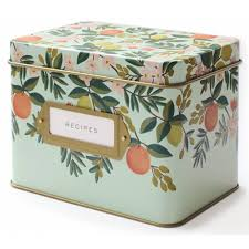 Rifle Paper Citrus Floral Recipe Box