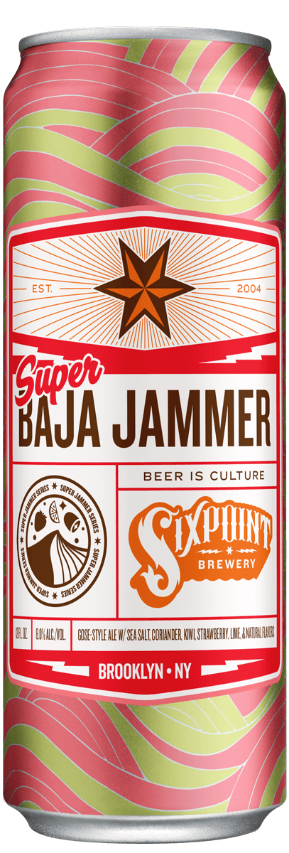 Six Point Brewery Baja Jammer Strawberry Kiwi Gose 6PK Cans