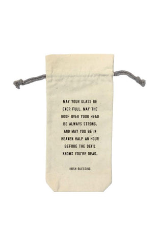 Sugarboo & Co. Wine Bag - Irish Blessing
