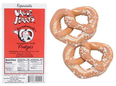 Uncle Jerry's Handmade PA Dutch Pretzels Original