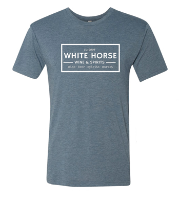 White Horse Triblend Navy Shirt