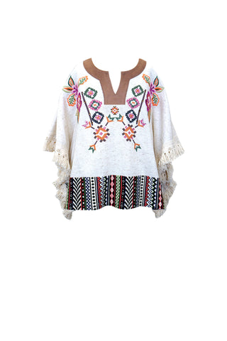 Ethnic Embroidered Poncho