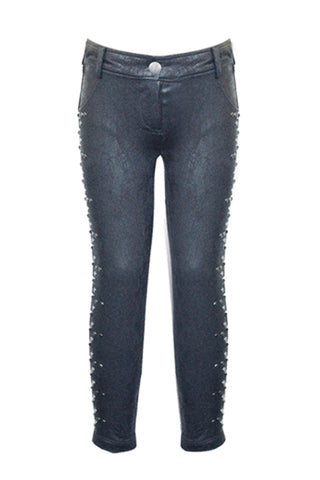 Faux Snake Skin Studded Pants