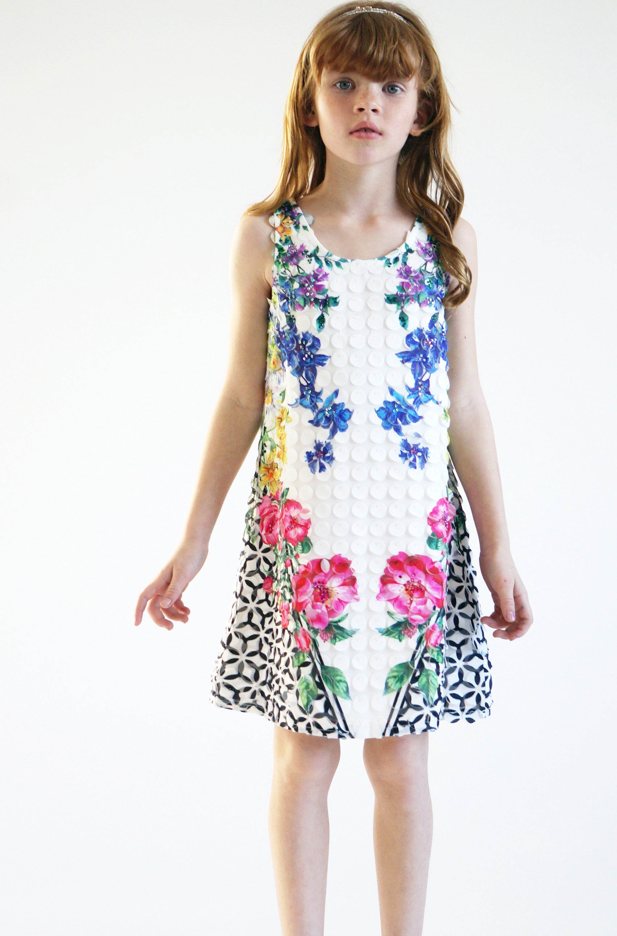 Chic Blooms 3D Dress