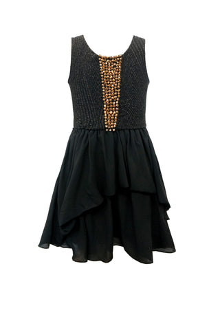 Studded Shimmer Chiffon Dress