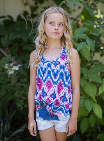 Printed Macrame Top