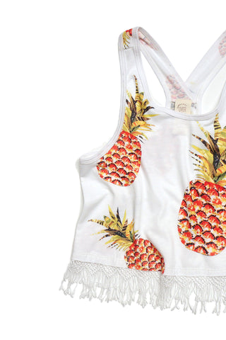 Pineapple Fringe Crop Top