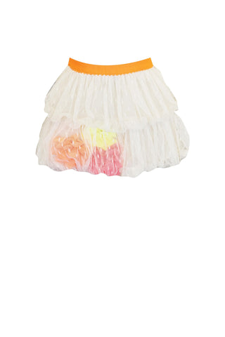 Double Bubble Mesh Floral Skirt ( Sizes : 2T-4T )