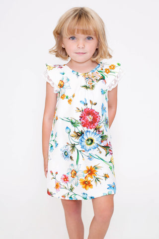Flora Flutter Sleeve Dress