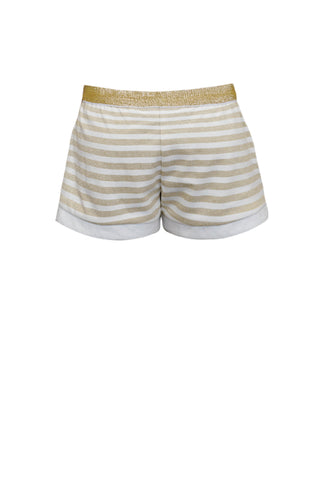 Sparkling Golden Stripes Tulip Shorts