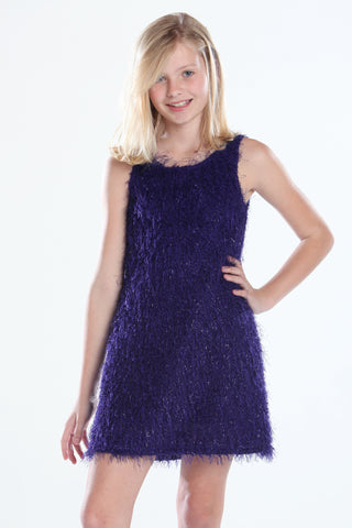 Vivid Shimmering Feathered Dress