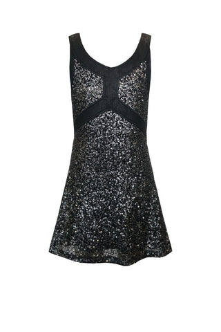 Diva Sequin Faux Leather Dress