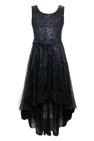 Shimmering Sequin Hi Low Dress
